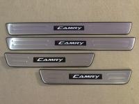Светодиодные накладки на пороги Toyota Camry 2012-2015