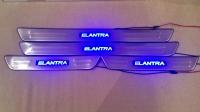 Светодиодные накладки на пороги Hyundai Elantra 2008-2011
