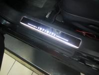 Накладки на пороги Premium Line для Infiniti FX30,35,37,50 (2009+)