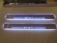 Накладки на пороги Premium Line для Infiniti G25, G37 (2010+)