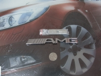 Эмблема алюминиевая для решетки радиатора AMG для автомобилей Mercedes-Benz