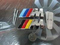 Эмблема алюминиевая для решетки радиатора M Power для автомобилей BMW