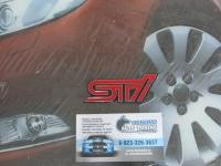 Алюминиевый Шильдик с клеевой основой STi для автомобилей Subaru