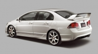 Спойлер высокий в стиле Type R на Honda Civic 4D 8