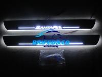 Накладки на пороги Premium Line для Hyundai Santa Fe 2006 - 2012