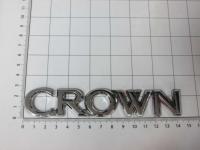 Эмблема шильдик на багажник Crown хром 143*27 мм