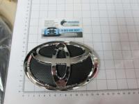 Эмблема шильдик логотип Toyota на решетку 140*95 мм с чер. дном