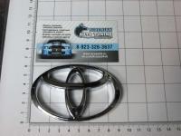 Эмблема шильдик логотип Toyota на багажник 92*60 мм
