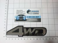 Эмблема шильдик на багажник 4WD 132*37 мм