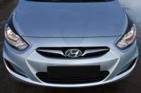 Реснички на фары Hyundai Solaris 2010 - 2013 (l дорестайлинг)