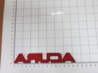 Эмблема шильдик Acura на багажник 146*22 мм