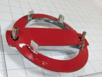 Эмблема шильдик логотип Nissan на багажник, решетку 125 х 105 мм