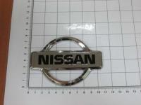 Эмблема шильдик логотип Nissan на багажник, решетку 105 х 75 мм