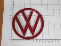 Эмблема шильдик логотип Volkswagen на багажник 105 мм