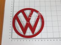 Эмблема шильдик логотип Volkswagen на багажник 110 мм