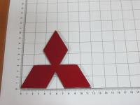 Эмблема шильдик логотип Mitsubishi на багажник, решетку 112x104 мм