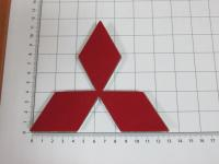 Эмблема шильдик логотип Mitsubishi на багажник, решетку 127x113 мм