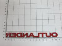 Эмблема шильдик Outlander для Mitsubishi на багажник 165*14 мм