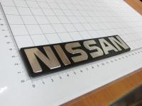 Эмблема шильдик с клеевой основой Nissan 182х38 мм