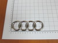 Эмблема шильдик логотип с клеевой основой Кольца для Audi 135х45 мм