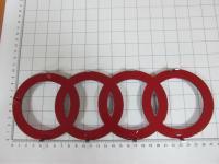 Эмблема шильдик логотип с клеевой основой Кольца для Audi 272х98 мм