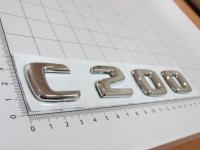 Эмблема шильдик C200 с клеевой основой для Mercedes-Benz 170*28 мм