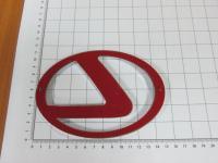 Эмблема шильдик логотип Lexus с клеевой основой 150х105 мм