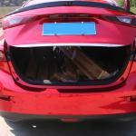 Накладка на кромку двери багажника Mazda 3 2014 + на седан