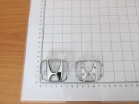 Оригинальная Эмблема хром на руль Honda тип А 53*43 мм