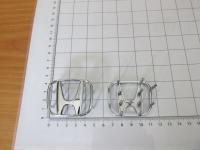 Оригинальная Эмблема хром на руль Honda тип B 50*40 мм