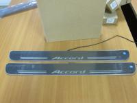Накладки на пороги Premium Line для Honda Accord 7 (вариант 2)
