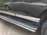 Хромированные молдинги на двери Toyota Prado 150 2010-2019