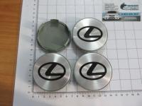 Ступичные колпачки Lexus черные металл 68/64/11 (4шт)