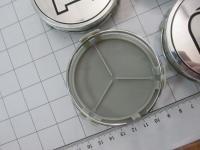 Ступичные колпачки Mercedes-Benz Brabus серебро 75/70/17 (4шт)