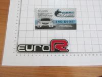 Эмблема шильдик Euro R для автомобилей Honda на багажник