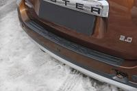 Накладка на задний бампер Renault Duster 2010 - 2021 с надписью