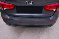 Накладка на задний бампер KIA Rio III (седан) 2015-2016 (рестайлинг)