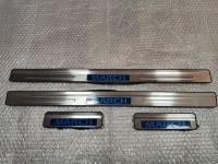 Светодиодные накладки на пороги Nissan March IV 2010+