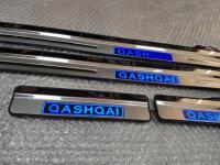 Светодиодные накладки на пороги Nissan Qashqai 2014+