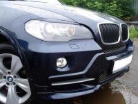 Реснички на фары BMW X5 E70 узкие, накладки на фары