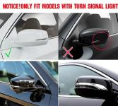 Хромированные накладки на боковые зеркала заднего вида Honda Accord 9 2013-2017 (узкие)