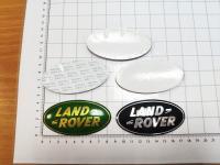Алюминиевый Шильдик с клеевой основой Land Rover 86мм х 44мм