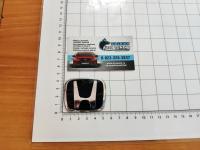 Черная эмблема J'S Racing Type R для Honda в руль (тип A) 53x43 мм