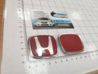 Красная эмблема J'S Racing Type R для Honda в руль тип B 50*40
