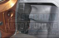 Накладки на боковые стойки багажника Renault Duster (на все года)