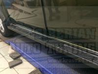 Накладки на пороги металлические Renault Duster (на все года)