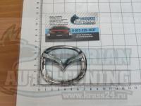 Эмблема шильдик логотип Mazda на багажник 76 х 62 мм