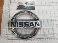 Эмблема шильдик логотип Nissan на багажник, решетку 147х128 мм
