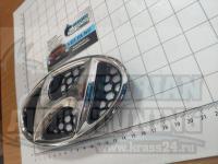 Эмблема шильдик логотип в решетку Hyundai 170*85 мм