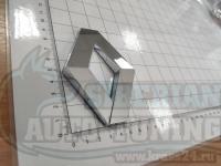 Эмблема шильдик логотип Renault на решетку 95х70 мм